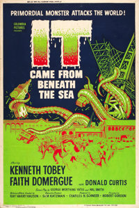 """It Came from Beneath the Sea (Columbia, 1955). Poster (40"""" X 60"""")"""