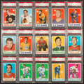 Hockey Cards:Lots, 1970 Topps Hockey High Grade PSA Collection (15). ...
