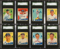 Baseball Cards:Lots, 1934 Goudey Baseball SGC-Graded Collection (8) With HoFer and HighNumbers....