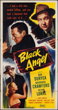 "Movie Posters:Film Noir, Black Angel (Realart, R-1950s). Three Sheet (41"" X 78.5""). Film Noir.. ..."