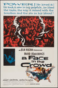 "Movie Posters:Drama, A Face in the Crowd (Warner Brothers, 1957). One Sheet (27"" X 41"") and Lobby Card (11"" X 14""). Drama.. ... (Total: 2 Items)"
