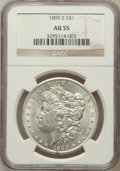 Morgan Dollars: , 1899-S $1 AU55 NGC. NGC Census: (114/2084). PCGS Population(124/3600). Mintage: 2,562,000. Numismedia Wsl. Price for probl...