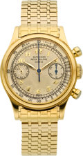 Timepieces:Wristwatch, Patek Philippe Ref. 1463 Very Fine, Rare & Important 18k Yellow Gold Gentlemen's Chronograph, circa 1949. ...