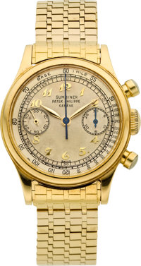 Patek Philippe Ref. 1463 Very Fine, Rare & Important 18k Yellow Gold Gentlemen's Chronograph, circa 1949