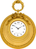 Timepieces:Clocks, Adolphe Ollier Small French Wall Clock For J. E. CaldwellPhiladelphia. ...