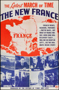 "Movie Posters:Documentary, The March of Time (20th Century Fox, 1946). One Sheet (26.25"" X 40.25"") Volume XII, No 12 --""The New France."" Documentary.. ..."