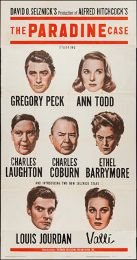 "The Paradine Case (Selznick, 1948). Three Sheet (41"" X 79""). Hitchcock"