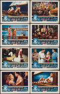 "Movie Posters:Adventure, Pearl of the South Pacific (RKO, 1955). Lobby Card Set of 8 (11"" X 14""). Adventure.. ... (Total: 8 Items)"