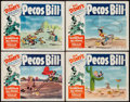 "Movie Posters:Animation, Pecos Bill (Buena Vista, R-1953). Lobby Cards (4) (11"" X 14""). Animation.. ... (Total: 4 Items)"