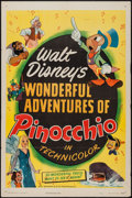 "Movie Posters:Animation, Pinocchio (RKO, R-1945). One Sheet (27"" X 41""). Animation.. ..."