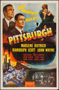 "Movie Posters:Drama, Pittsburgh (Realart, R-1947). One Sheet (27"" X 41""). Drama.. ..."