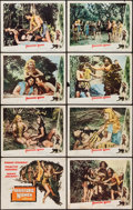 "Movie Posters:Adventure, Prehistoric Women (Eagle Lion, 1950). Lobby Card Set of 8 (11"" X14""). Adventure.. ... (Total: 8 Items)"