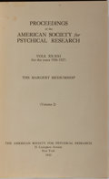 Books:Metaphysical & Occult, [Houdini]. Proceedings of the American Society for Psychical Research. Vols. XX-XXI. The Margery Mediumship....