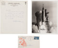 Explorers:Space Exploration, Mercury-Atlas 8 (Sigma 7): Three Signed Items.... (Total: 3Items)