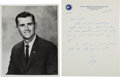 Autographs:Celebrities, Roger Chaffee Signed Photo and Autograph Letter Signed. ... (Total:2 Items)