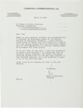 Autographs:Celebrities, Neil Armstrong Typed Letter Signed to Thomas O. Paine. ...