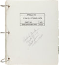 Explorers:Space Exploration, Apollo 12 Flown CSM Systems Data Book Originally from the Personal Collection of Mission Command Module Pilot ...