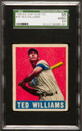 Baseball Cards:Singles (1940-1949), 1948 Leaf Ted Williams #76 SGC 35 Good+ 2.5....