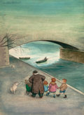 Mainstream Illustration, GARTH WILLIAMS (American, 1912-1996). The Family Under theBridge, the complete collection of illustrations for thebook... (Total: 12 Items)