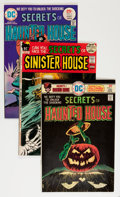 Bronze Age (1970-1979):Horror, Secrets of Haunted House/Sinister House Savannah pedigree Group(DC, 1972-76) Condition: Average NM-.... (Total: 6 Comic Books)