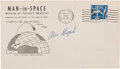 Explorers:Space Exploration, Mercury-Redstone 3 (Freedom 7) Signed Launch Cover. ...