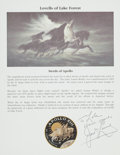 """Autographs:Celebrities, James Lovell Signed Color """"Steeds of Apollo"""" Illustrated ColorInformation Card. ..."""
