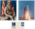 Autographs:Celebrities, Mercury-Atlas 9 (Faith 7): Three Signed Items.... (Total: 3)