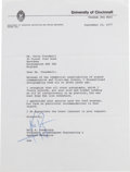 Autographs:Celebrities, Neil Armstrong Typed Letter Signed Regarding the Signing ofPhilatelic Items....