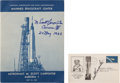 Explorers:Space Exploration, Mercury-Atlas 7 (Aurora 7): Two Signed Items. ... (Total: 2Items)