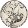 Explorers:Space Exploration, Apollo 1 Silver-Colored Fliteline Medallion Flown on Apollo 9 by Mission Commander Jim McDivitt, Originally from the Ed White ...