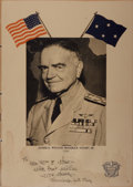 Autographs:Military Figures, William H. Halsey, Jr. Signed Menu...