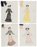 "Movie/TV Memorabilia:Costumes, A Collection of Costume Design Sketches from ""Ragtime.""... (Total:13 Items)"