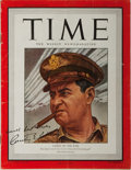 Autographs:Military Figures, Curtis LeMay Signed Time Magazine....