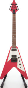 Musical Instruments:Electric Guitars, Circa 1989 Epiphone Flying V Magenta Solid Body electric Guitar,Serial # 0111539....