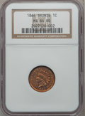 Indian Cents: , 1864 1C Bronze No L MS64 Red NGC. NGC Census: (43/80). PCGSPopulation (101/144). Mintage: 39,233,712. Numismedia Wsl. Pric...
