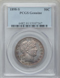 Barber Half Dollars, 1898-S 50C PCGS Genuine. The PCGS number ending in .91 suggestsquestionable color as the reason, or perhaps one of the rea...