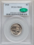 Buffalo Nickels, 1920 5C MS66 PCGS. CAC....