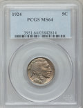 Buffalo Nickels: , 1924 5C MS64 PCGS. PCGS Population (403/293). NGC Census:(250/142). Mintage: 21,620,000. Numismedia Wsl. Price forproblem...