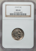 Buffalo Nickels: , 1914-S 5C MS64 NGC. NGC Census: (389/78). PCGS Population(412/139). Mintage: 3,470,000. Numismedia Wsl. Price for problem...