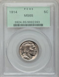 Buffalo Nickels: , 1914 5C MS65 PCGS. PCGS Population (310/162). NGC Census: (191/63).Mintage: 20,665,738. Numismedia Wsl. Price for problem ...
