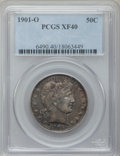 Barber Half Dollars: , 1901-O 50C XF40 PCGS. PCGS Population (9/48). NGC Census: (0/46).Mintage: 1,124,000. Numismedia Wsl. Price for problem fre...