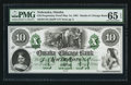 Obsoletes By State:Nebraska, Omaha City, NT- Omaha and Chicago Bank Proprietary Proof $10 May 1, 1861 UNL. ...