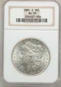 Morgan Dollars, 1884-S $1 AU58 NGC....