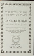 Books:Biography & Memoir, Gaius Suetonius Tranquillus. The Lives of the Twelve Ceasars. Easton Press, 1993. Reprint edition. Publisher's l...