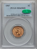 Indian Cents: , 1907 1C MS65 Red PCGS. CAC. PCGS Population (190/35). NGC Census:(94/14). Mintage: 108,138,616. Numismedia Wsl. Price for ...