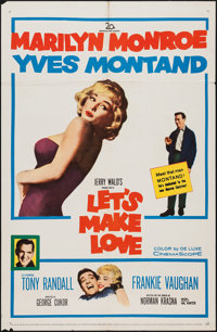 """Let's Make Love (20th Century Fox, 1960). One Sheet (27"""" X 41""""). Comedy"""