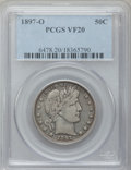 Barber Half Dollars: , 1897-O 50C VF20 PCGS. PCGS Population (16/107). NGC Census: (2/63).Mintage: 632,000. Numismedia Wsl. Price for problem fre...