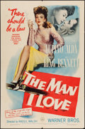 "Movie Posters:Crime, The Man I Love (Warner Brothers, 1947). One Sheet (27"" X 41"").Crime.. ..."