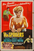 "Movie Posters:Western, The Spoilers (Realart, R-1947). One Sheet (27"" X 41""). Western.. ..."