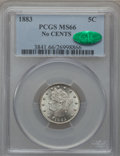 Liberty Nickels: , 1883 5C No Cents MS66 PCGS. CAC. PCGS Population (359/16). NGCCensus: (464/59). Mintage: 5,479,519. Numismedia Wsl. Price ...